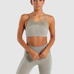 Gymshark Flex Set Blush Nude Khaki Marl SET